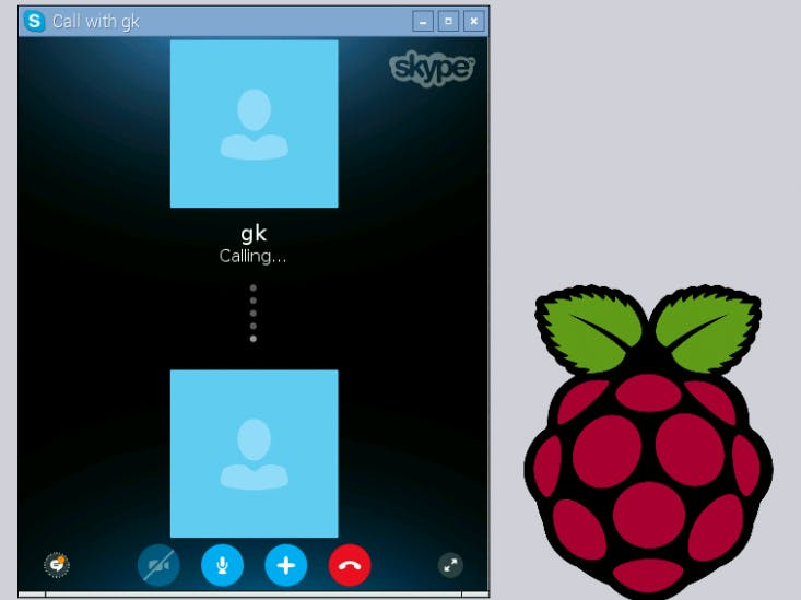 Run Skype on Raspberry Pi