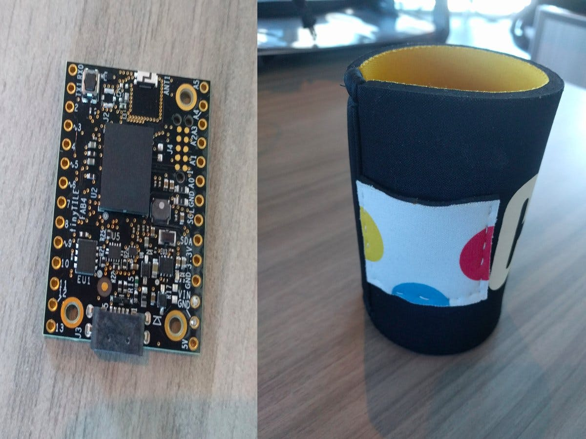 Connected Koozie with Intel Tiny Tile and Octoblu