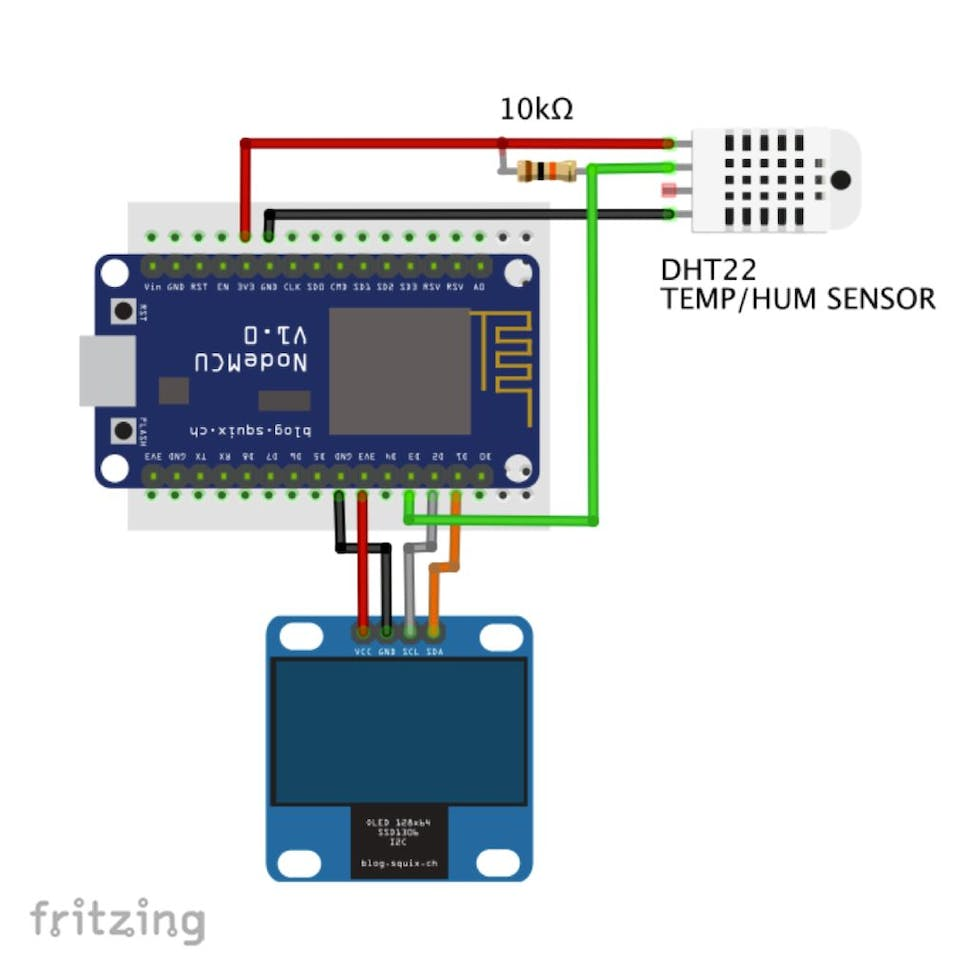 Iot Made Simple Home Weather Station With Nodemcu And Oled 350 Clk Electrical Wiring Diagram