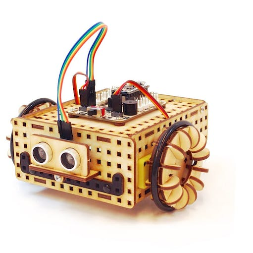 Rover robot built with LOFI Robot EDUBOX kit