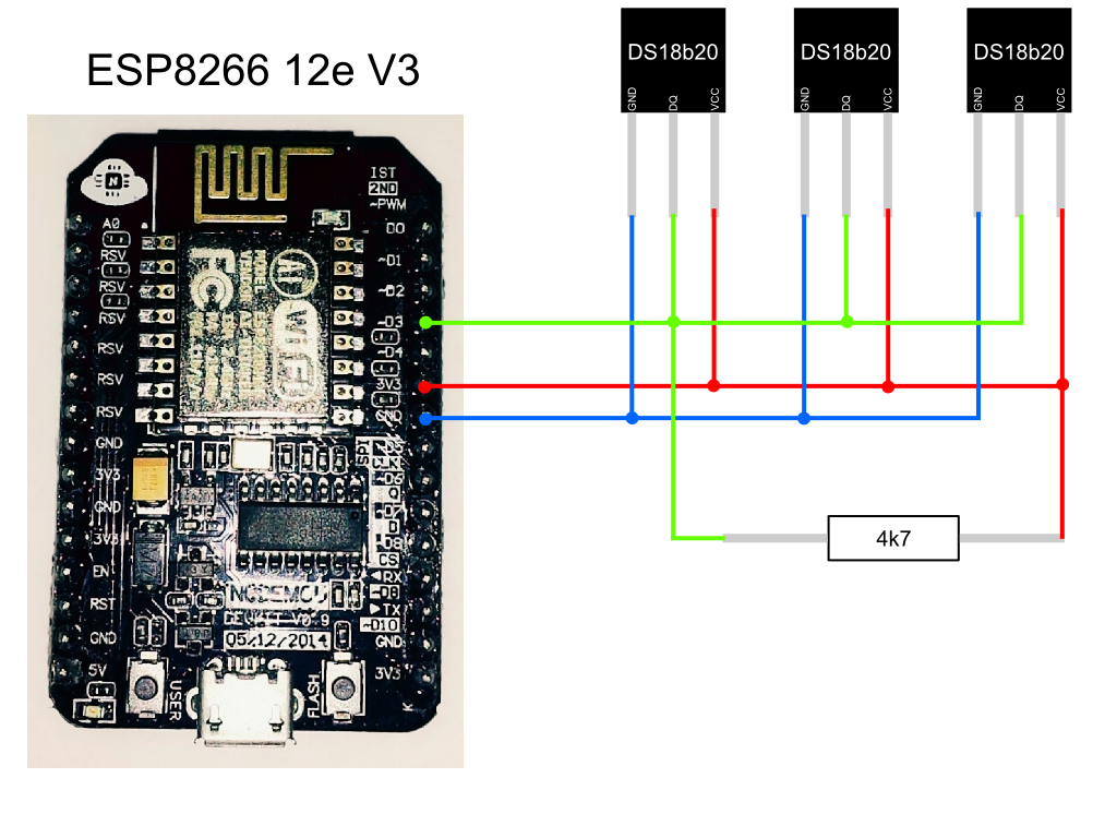 Esp8266 Temperature Sensors Ds18b20 With Http Server Electronic Component Sensor Circuit Schematic Mmklsxmjth