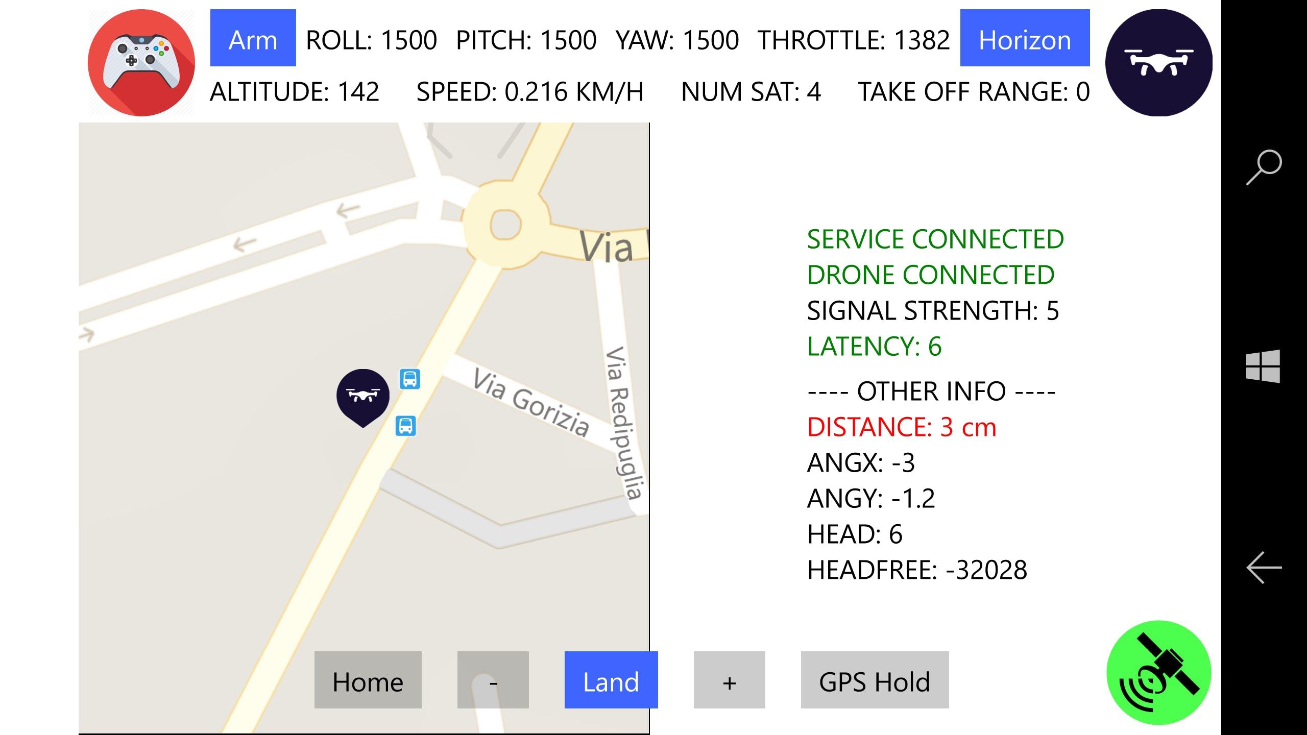 Drone App - Lumia 950XL