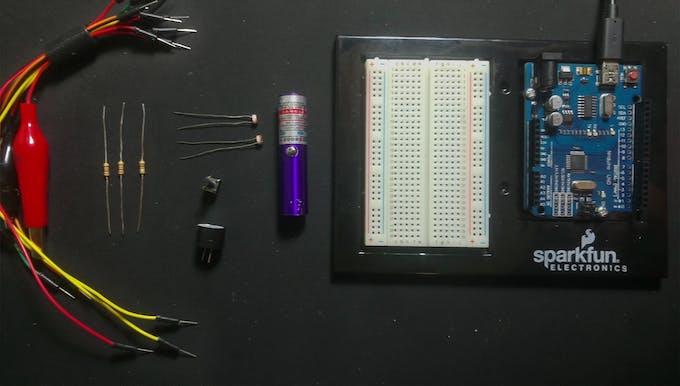 Arduino laser tripwire project hub