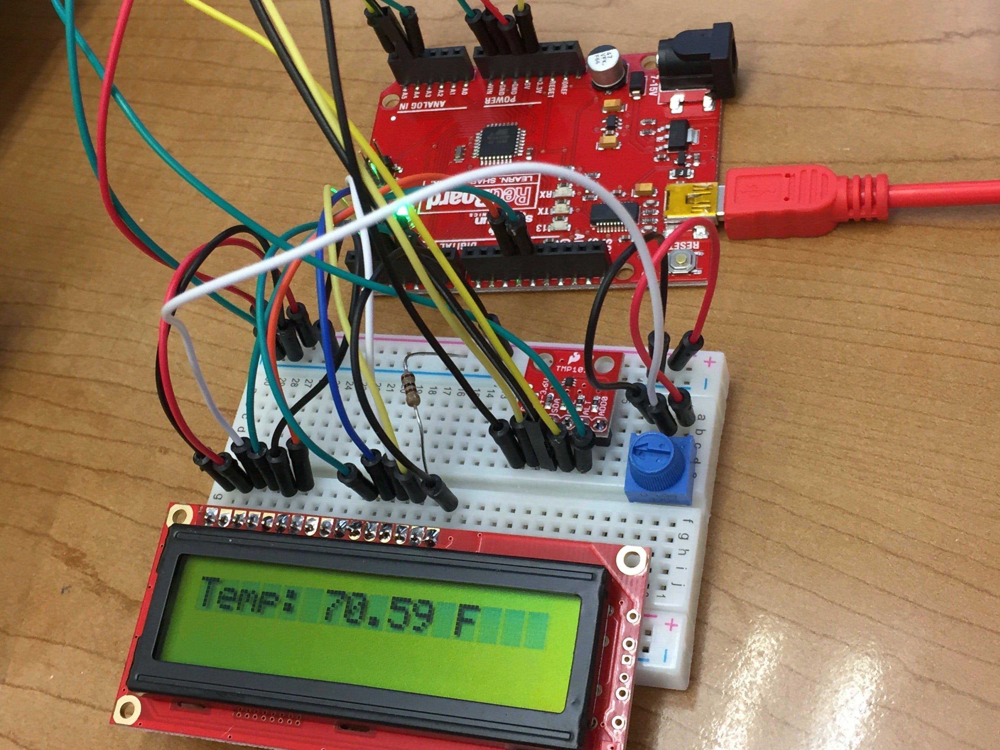 Temp Sensor + LCD