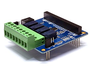 PHPoC 4-Port Relay Expansion Board (T-type)