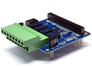 PHPoC 4-Port Relay Expansion Board (S-type)