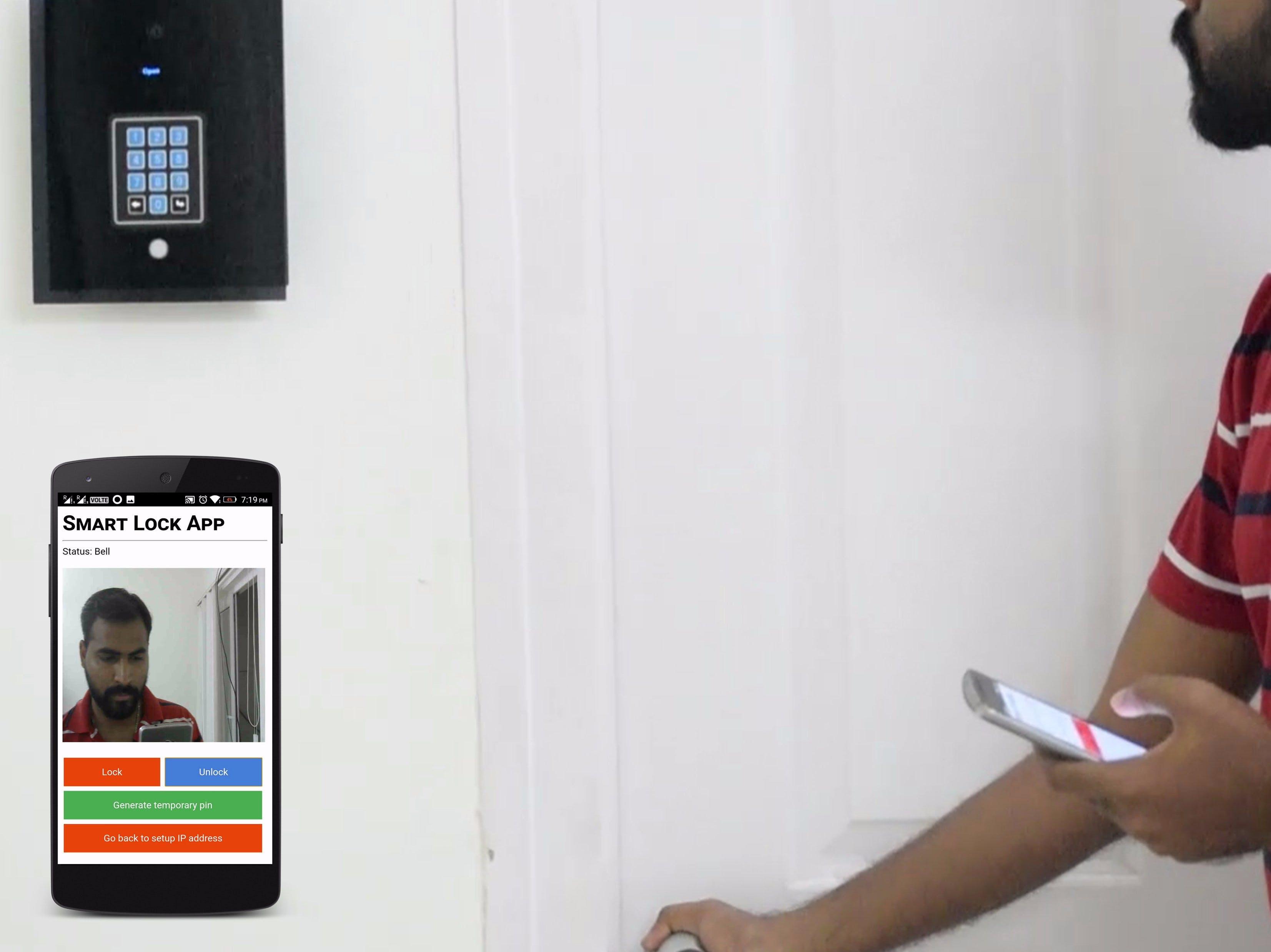 Smart Lock - Internet connected door lock with door bell