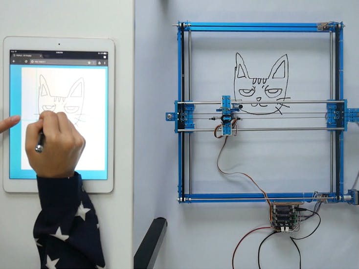 XY Plotter Robot Drawing via Web
