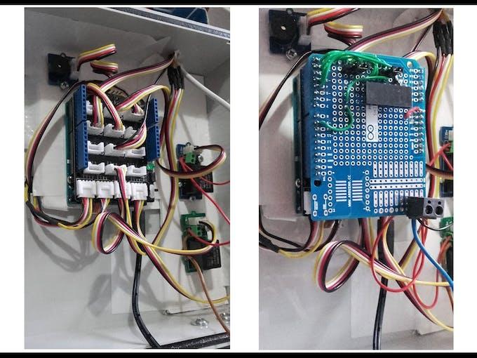 Grove Base Shield + Arduino Proto Shield (minus Electric Imp module)