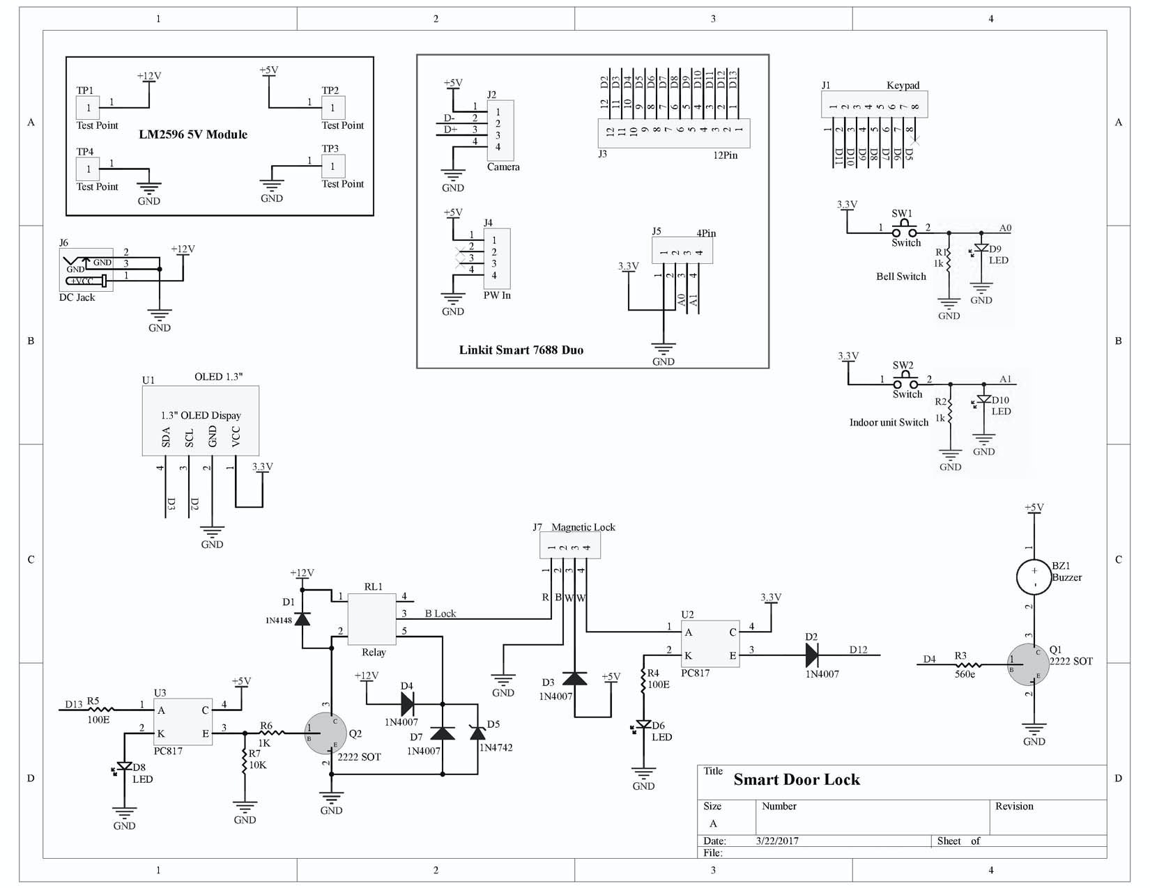 Vdo 370 155 Wiring Diagram Electrical Diagrams Well Tachometer Also Diesel Smart Lock Internet Connected Door With Bell Hackster Io