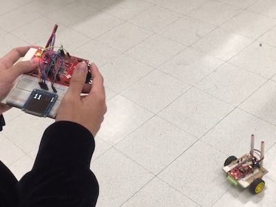 Self-Balancing Rover With Thermometer
