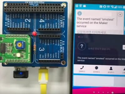 IFTTT's Android SMS Service with PHPoC Blue
