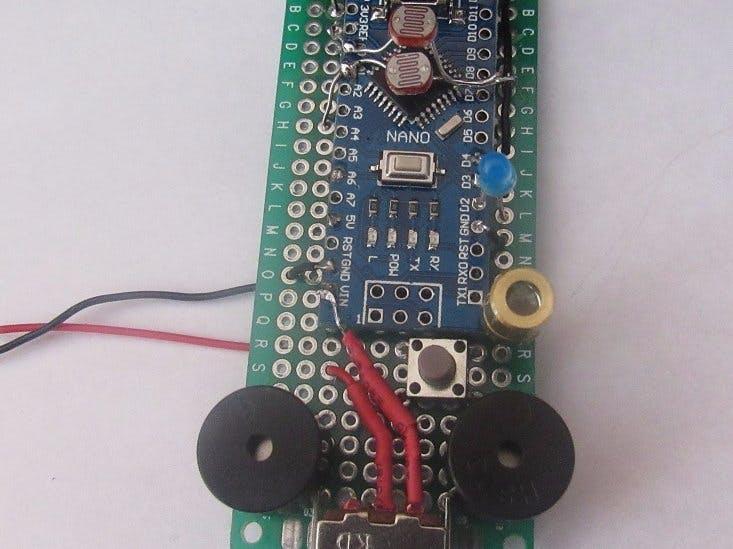 Modular Laser Tripwire (Arduino NANO)
