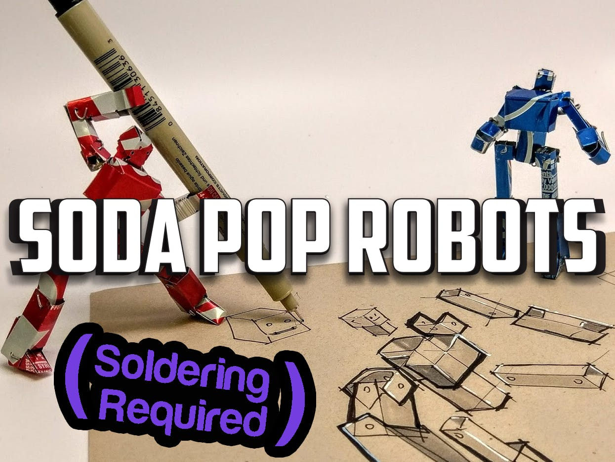 Recycled Robot Action Figures