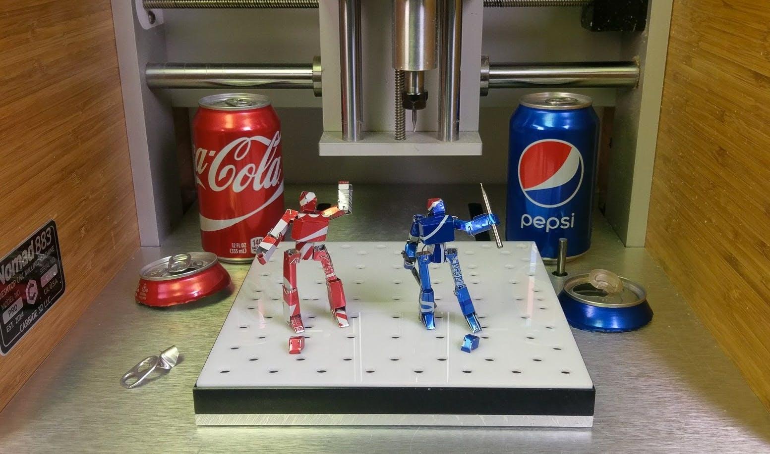 CNC Machined Soda POP Robots
