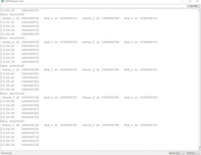 Screenshot Serial monitor (without Transmitter)