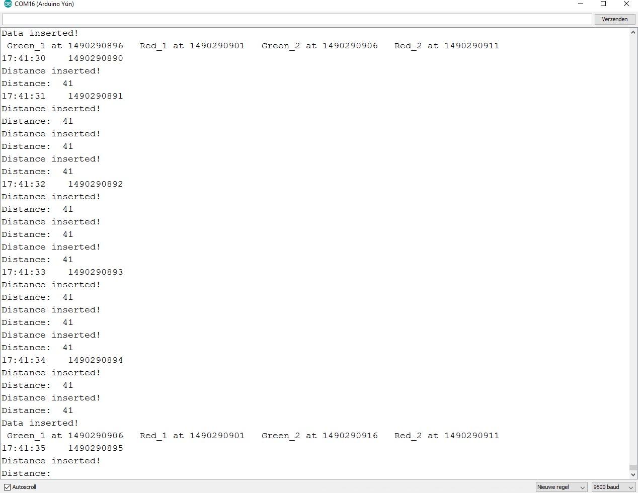 Screenshot Serial monitor (with Transmitter)