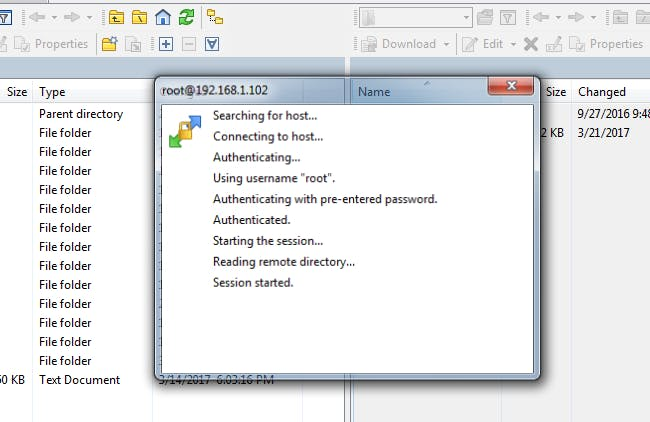 Connecting with Winscp