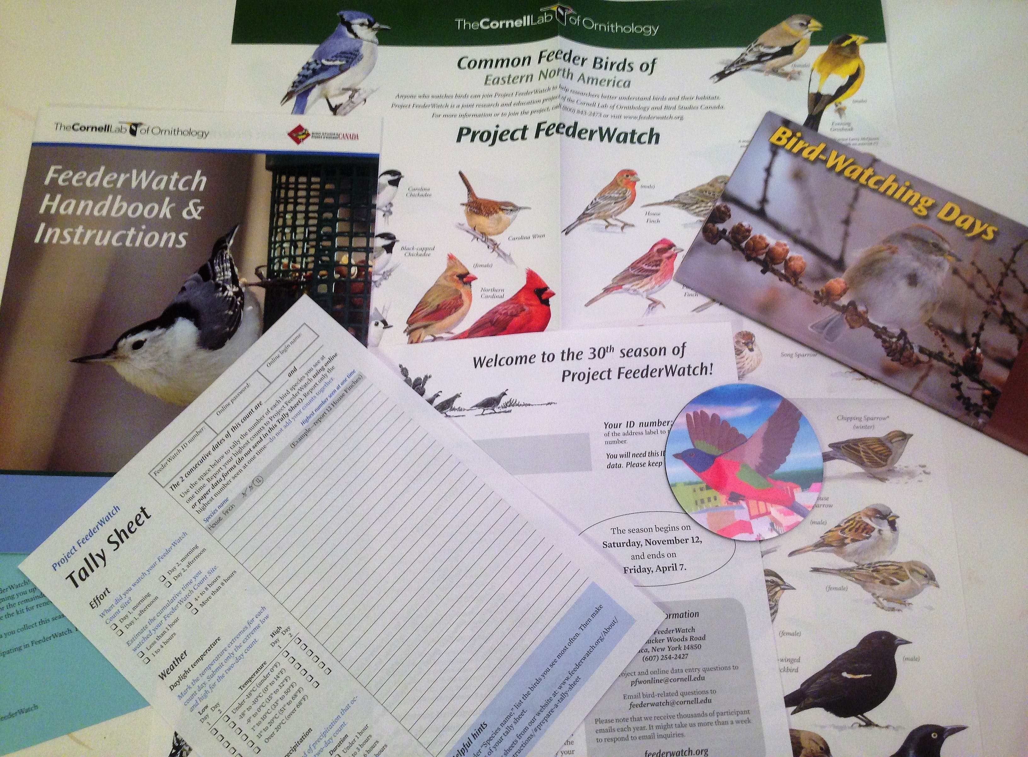 When you sign up for Project FeederWatch, this is the awesome kit you get!
