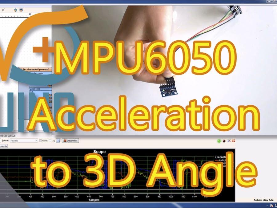 Convert Acceleration To Angle From MPU6050 I2C Sensor