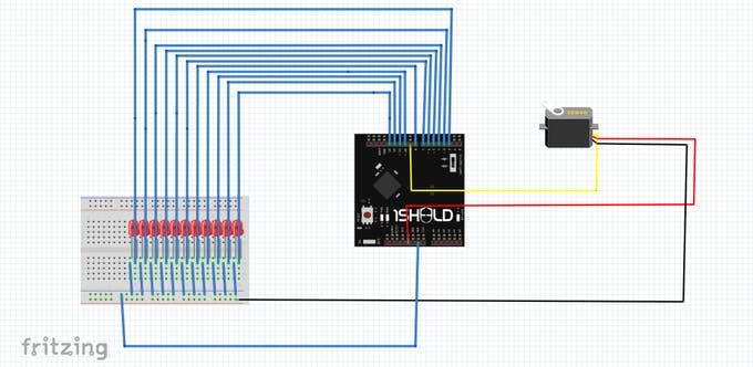 schematic of project circuit
