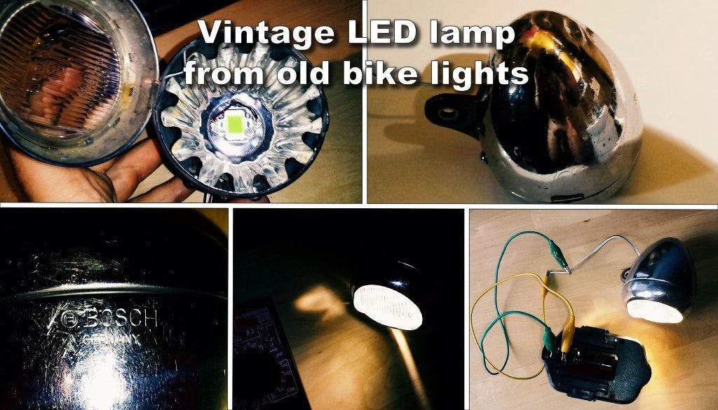 DIY Vintage LED Lamp From Old Bike Lights