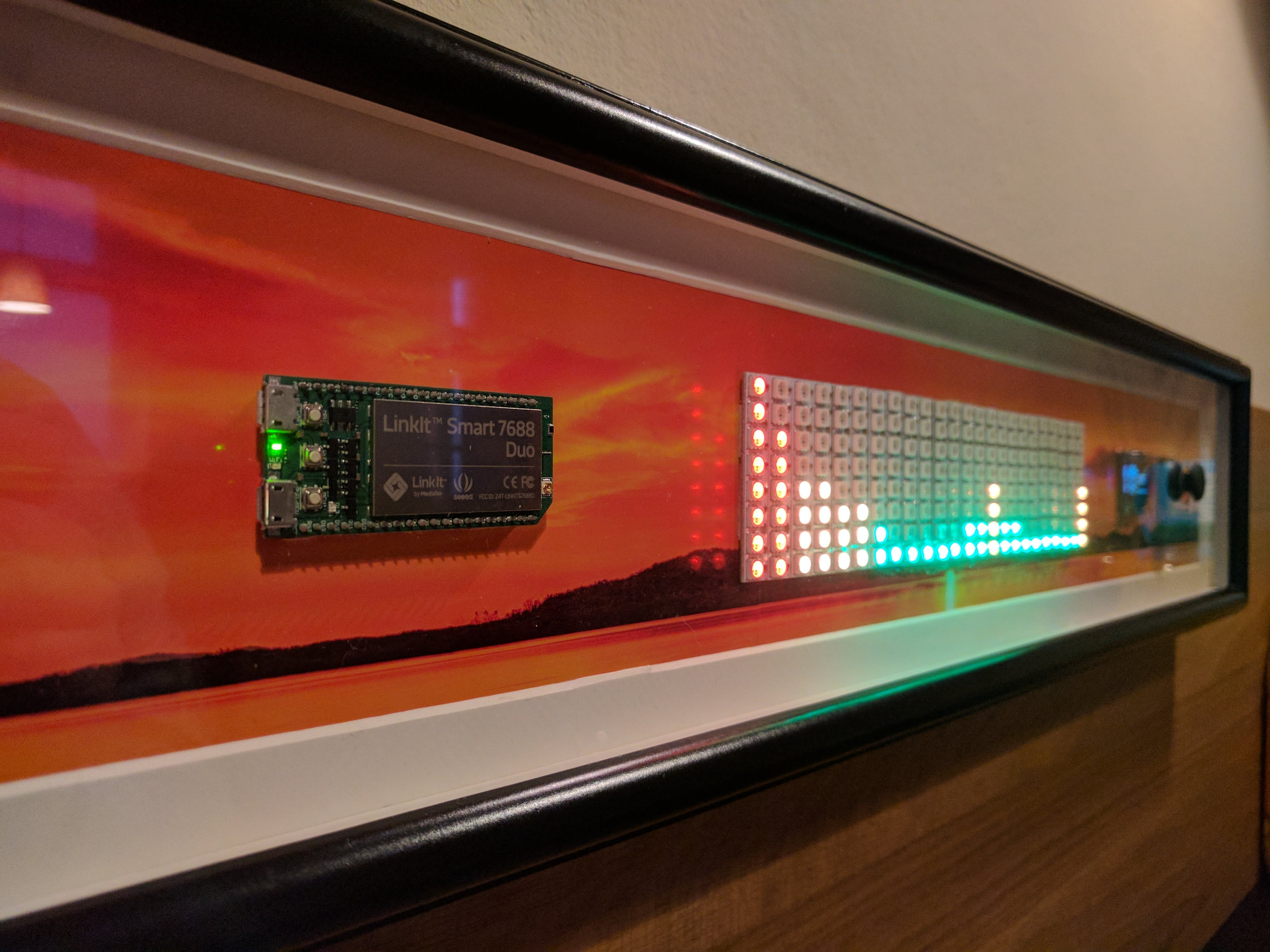 NeoPixel LED panel made of 24 sticks with 8 LEDs each