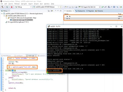 SQLite with C/C++ and Eclipse on Simatic IOT2020