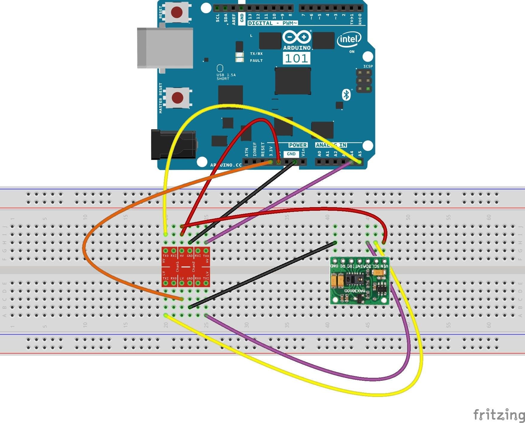MAX30100 wiring