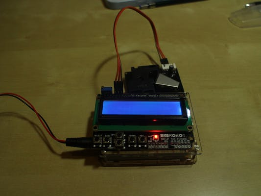 Air dust monitor with arduino