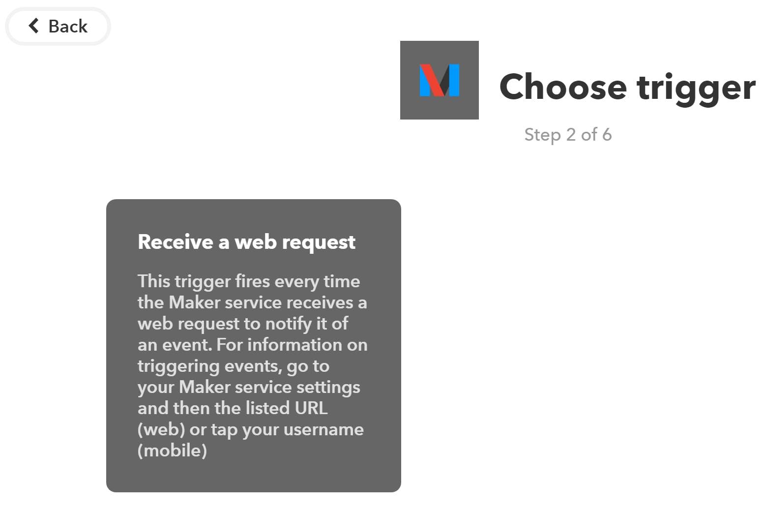 """Click """"Receive a web request"""""""