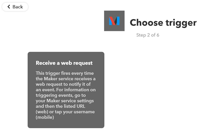 "Click ""Receive a web request"""