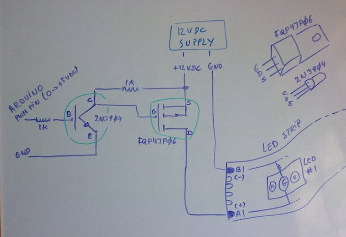 Control circuit for Green LED