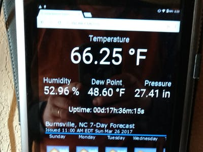 NodeMCU Home Weather Station with WebSocket