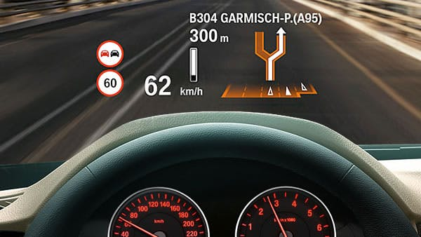 Example of a HUD in a car (BMW)