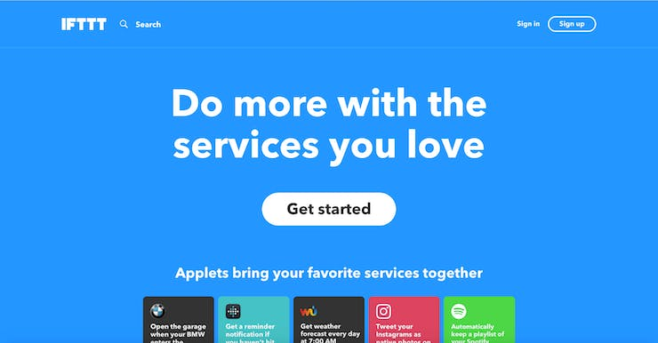 IFTTT splash screen