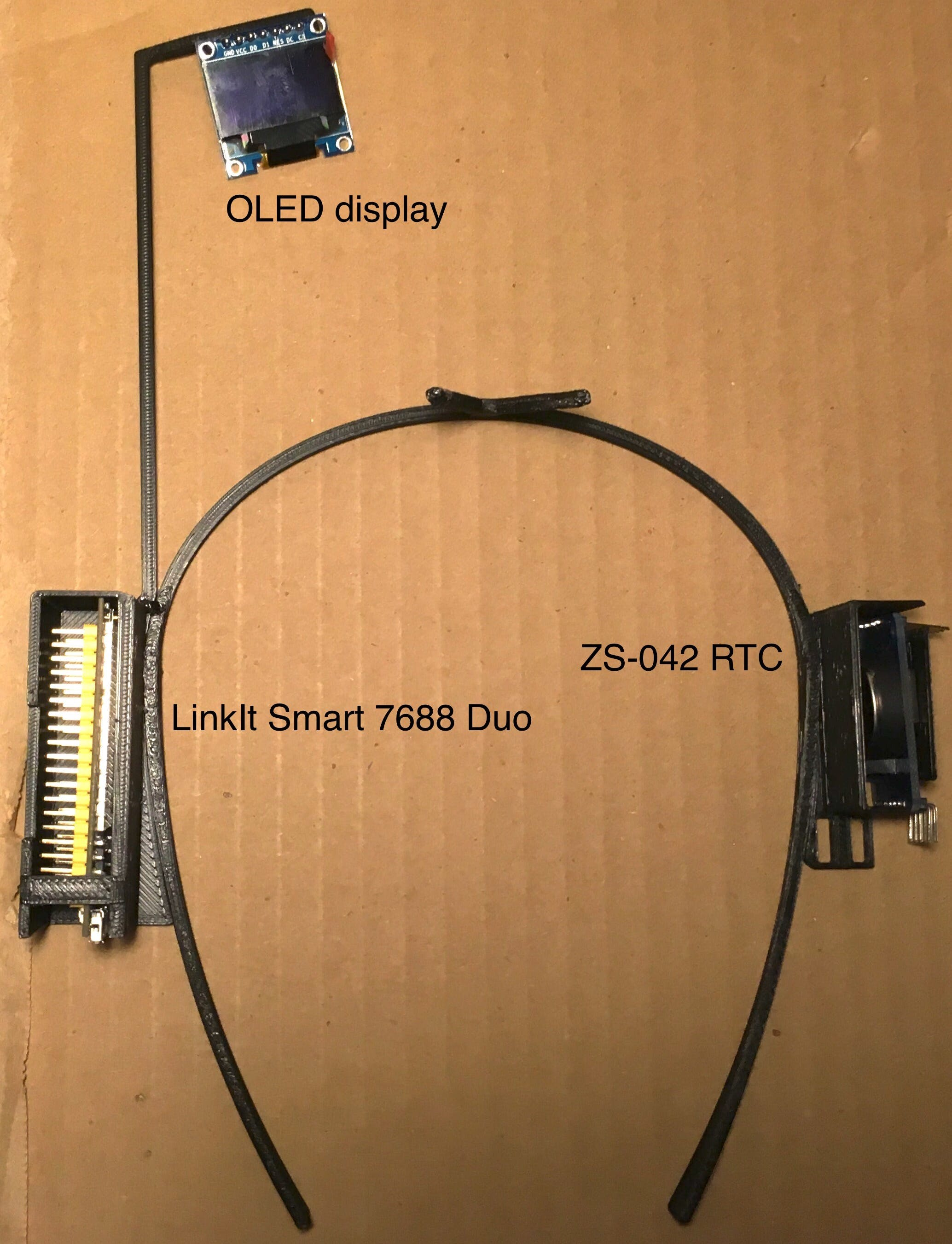 LinkIt Smart 7688 Duo, ZS-042 RTC, and OLED