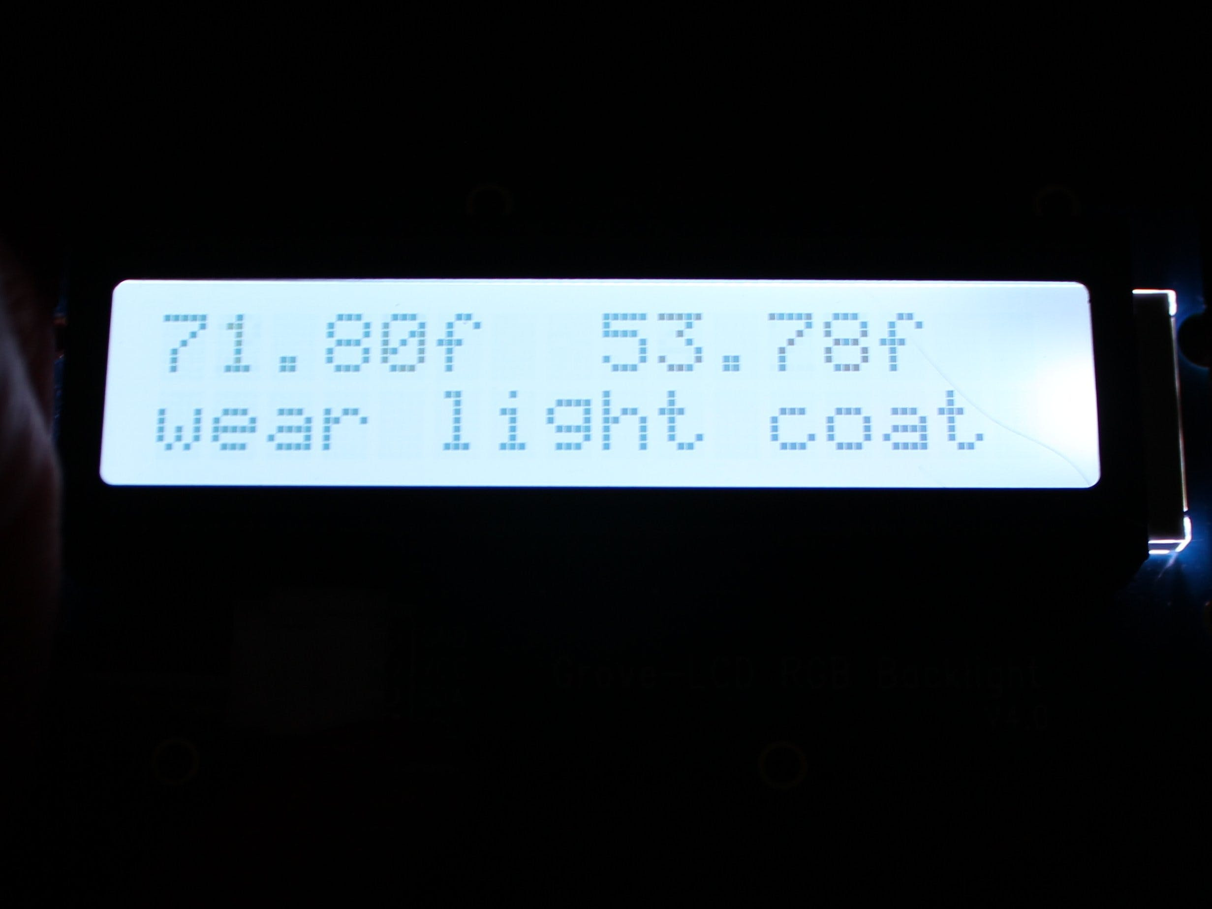 Arduino 101 Clothes Recommender
