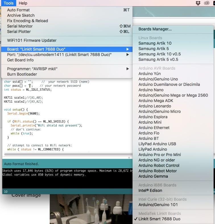 LinkIt Using Arduino IDE