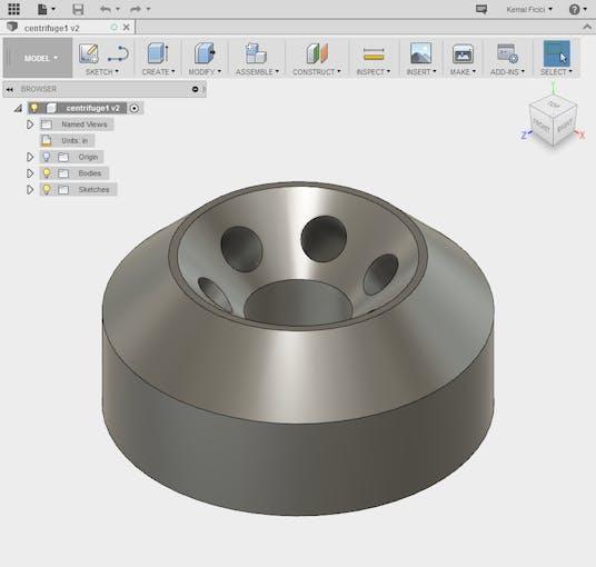 CAD Model of sample holder
