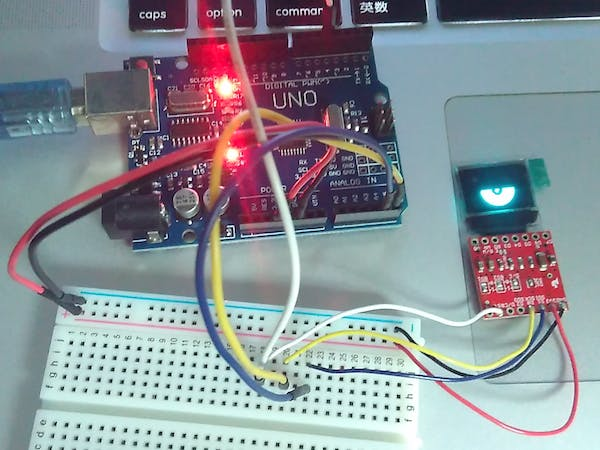 Micro OLED Display Test Using Visuino