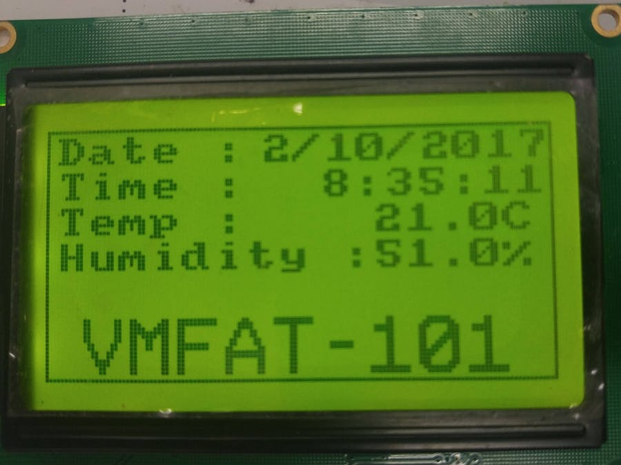 128x64 Date, Time, Temp Humidity Display - Hackster io