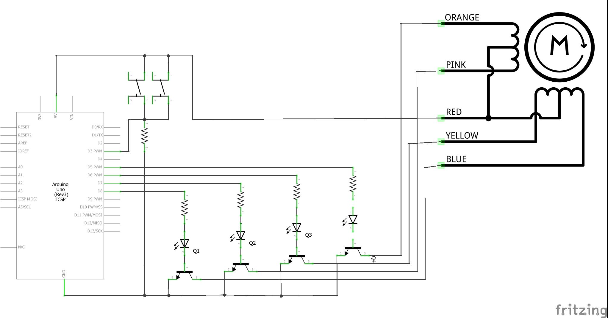 Arduino Simple Camera Slider Electronics Stepper Motor Circuit Diagram Schematics