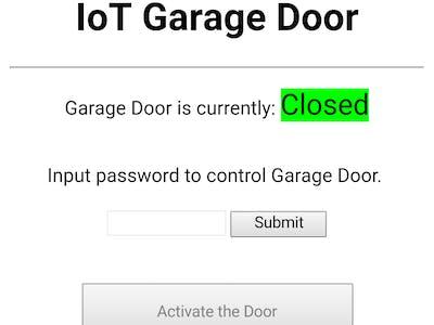 IoT Garage Door, Yes Another One!