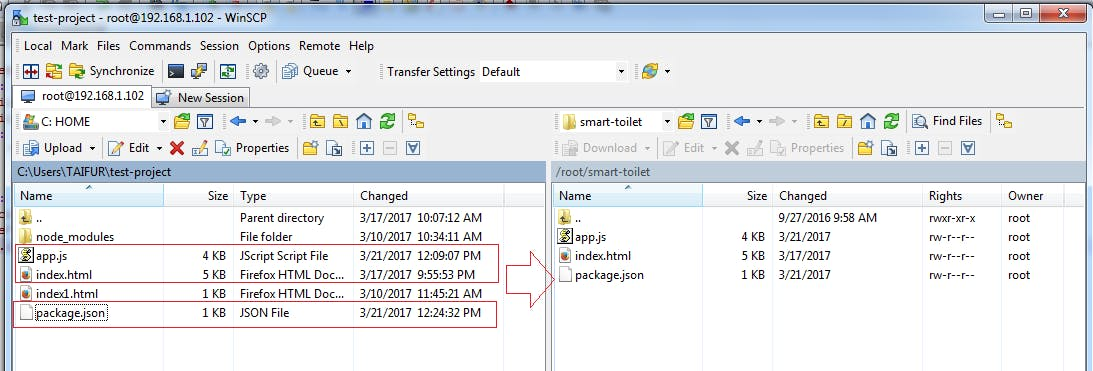Transferring files from PC to LinkIt