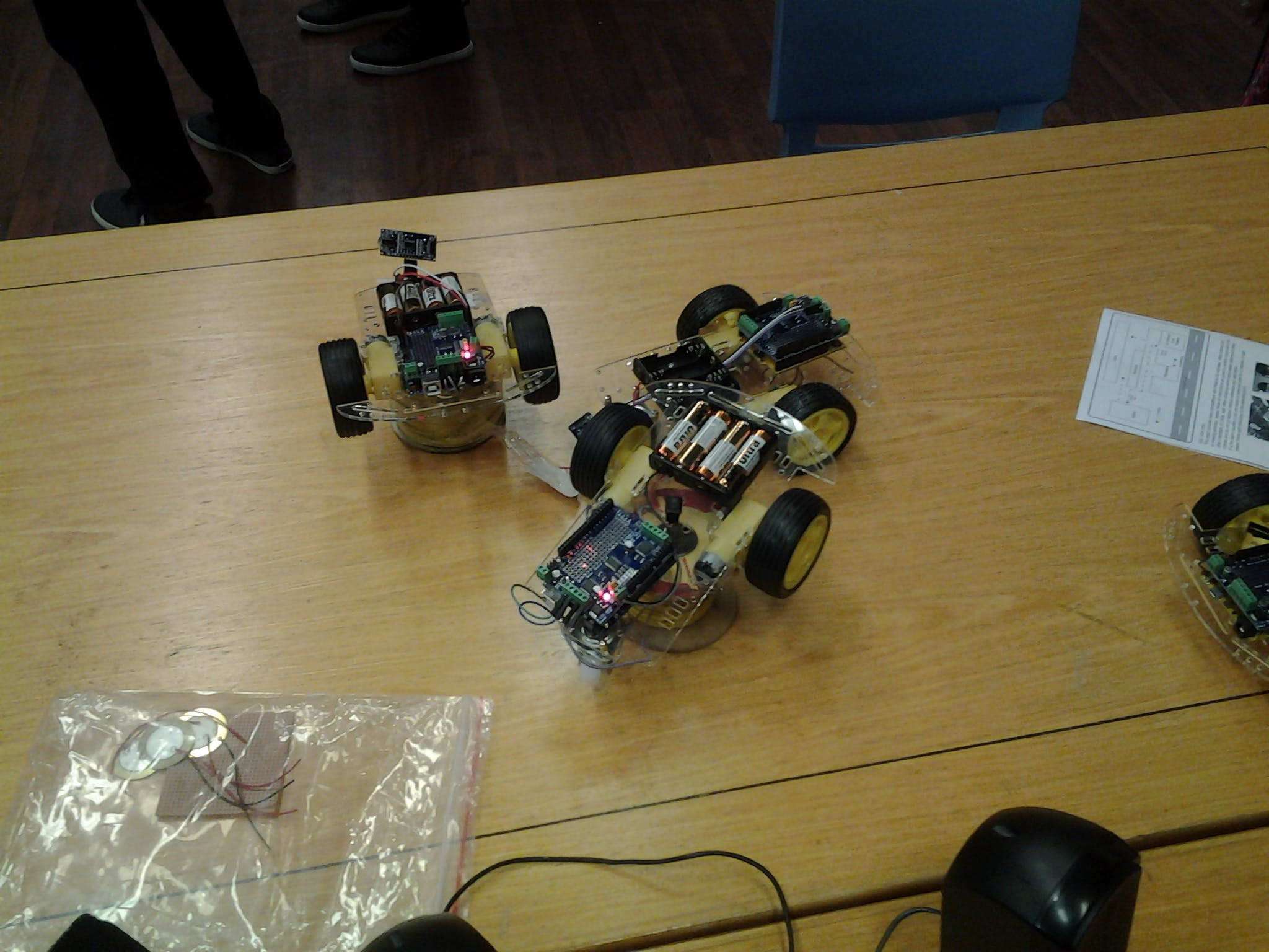 Demos showing Arduino 101 with MotorShield Sensors are from MikroElektronika