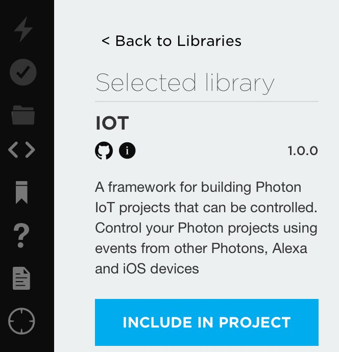 Including the IoT library in your project