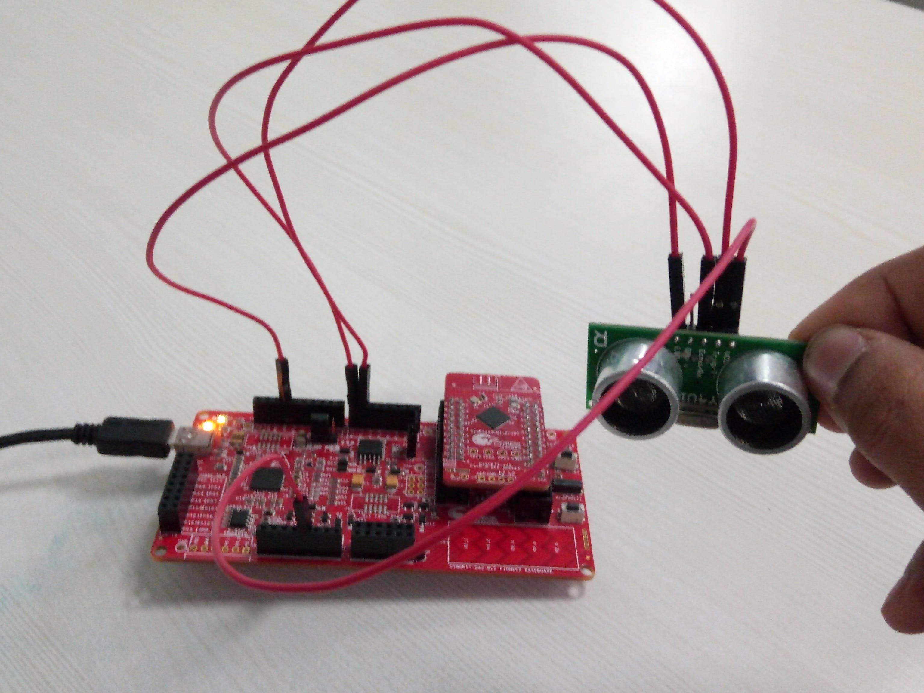 Measuring Distance With US-100 Ultrasonic Sensor