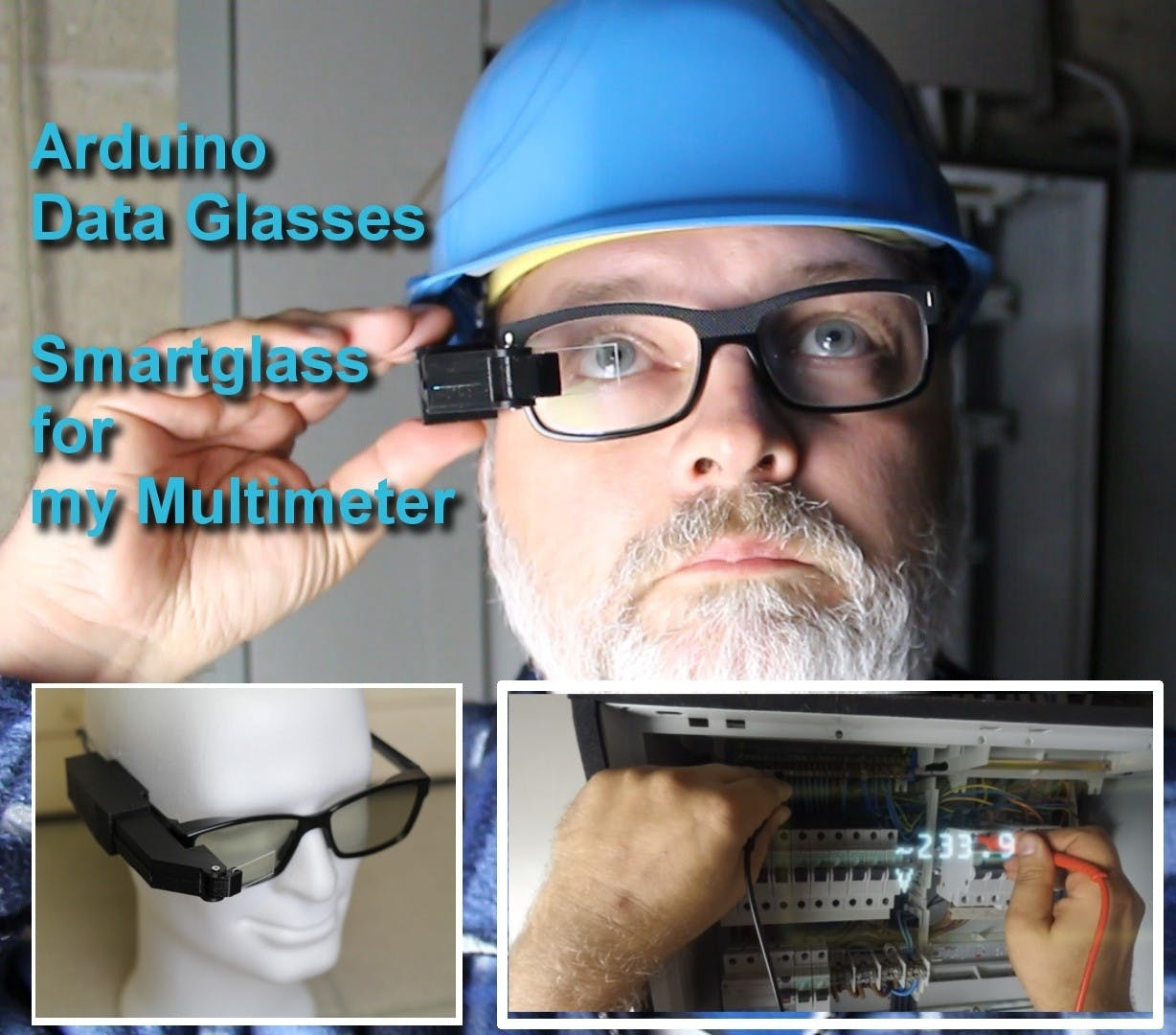 Arduino Glasses HMD for Multimeter