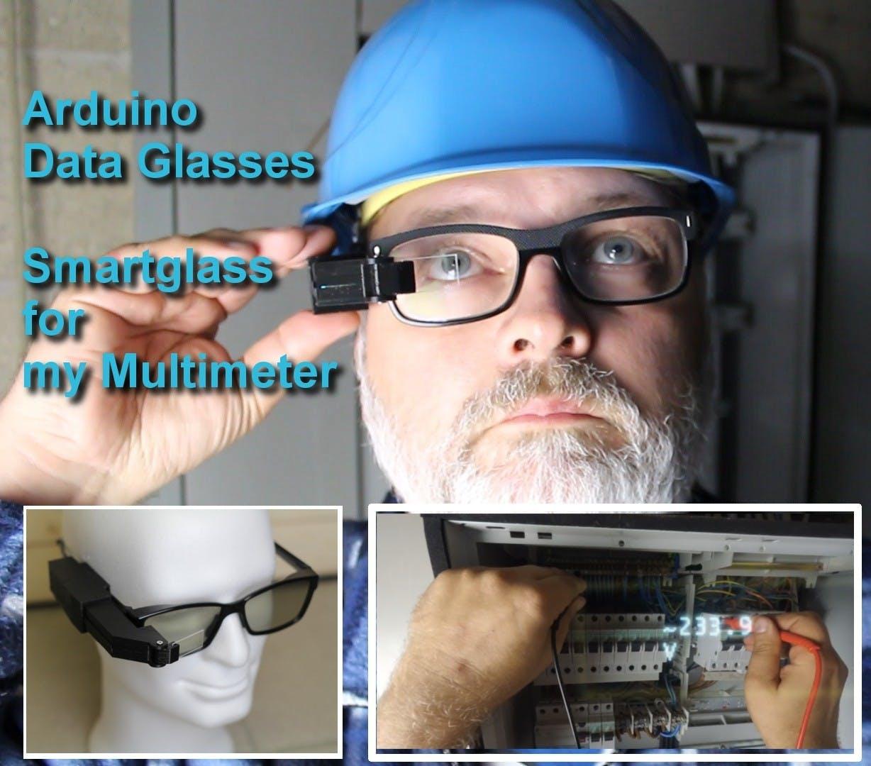 Arduino Glasses HMD for Multimeter